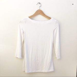 Bailey 44 Cuba Libre White 3/4 Sleeves Top S